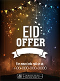 Beautiful poster, banner or flyer for Eid offer. Stock Image