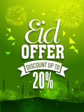 Beautiful poster, banner or flyer for Eid offer. Royalty Free Stock Photo