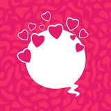 Beautiful Poster with Hearts and Copy Space Royalty Free Stock Photo