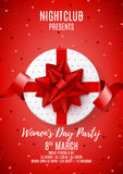 Beautiful poster for Women`s Day party Stock Photography