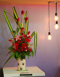 Beautiful potted flower arrangement. S at FLORIA event held in Putrajaya, Malaysia Stock Photo