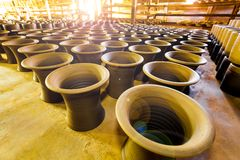 The beautiful pottery store indoor Royalty Free Stock Photo