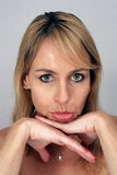 Beautiful Pouting Blonde (1) Royalty Free Stock Images
