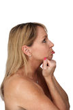 Beautiful Pouting Middle-age Blonde (2) Stock Images