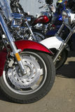 Motorcycles on parking Royalty Free Stock Image