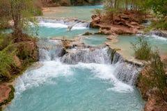 Havasu Falls Arizona. Beautiful and powerful Havasu Falls near Supai Arizona royalty free stock photography