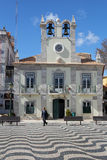 Beautiful Praca 5 Outubro in Cascais, Portugal Royalty Free Stock Images