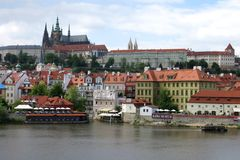Beautiful Prague Castle Attraction Stock Photography