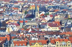 Beautiful Prague and its red roofs Stock Images