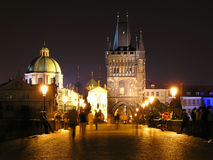 Beautiful Prague at night Royalty Free Stock Photos