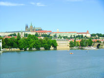 Beautiful Prague. Panoramatic view of the Prague, Czech republic royalty free stock photography