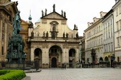 Beautiful Prague Square Attraction Royalty Free Stock Images