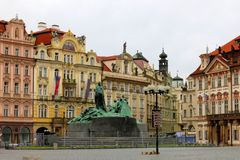 Beautiful Prague Square Attraction Stock Photos
