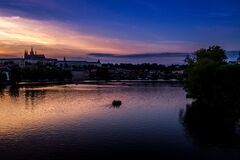 Beautiful Prague sunset, Czech Republic Royalty Free Stock Images