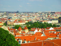 Beautiful Prague, view from above. Panoramatic view of the Prague, Czech republic stock images