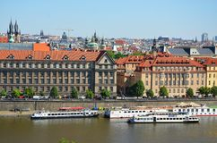 Beautiful Prague - view from Letna park Stock Image