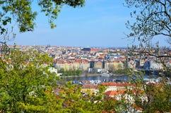 Beautiful Prague - view from Petrin park Royalty Free Stock Photos