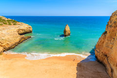 Beautiful Praia do Carvalho beach Stock Photos