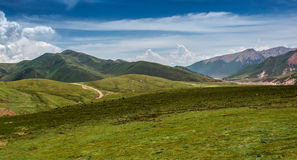 Beautiful prairie landscape. A group of rural landscapes in Gansu Province, china Royalty Free Stock Images