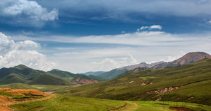 Beautiful prairie landscape. A group of rural landscapes in Gansu Province, china Stock Photo