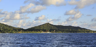 Beautiful Praslin Island in Indian Ocean. Royalty Free Stock Images