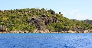 Beautiful Praslin Island in Indian Ocean. Stock Images