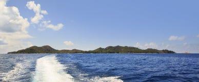 Beautiful Praslin Island in Indian Ocean. Stock Photos