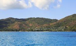 Beautiful Praslin Island in Indian Ocean. Royalty Free Stock Photo