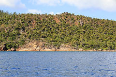 Beautiful Praslin Island in Indian Ocean. Stock Image