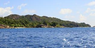 Beautiful Praslin Island in Indian Ocean. Royalty Free Stock Photos