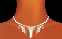 Beautiful precious necklace Royalty Free Stock Image