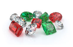 Beautiful precious stones Stock Photography
