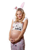 Beautiful pregnant blond woman Stock Photography