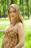 Beautiful pregnant blonde woman Royalty Free Stock Photography