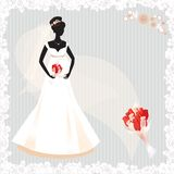 Beautiful pregnant bride silhouette Royalty Free Stock Images