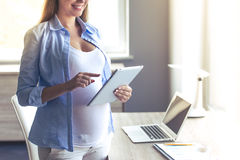 Beautiful pregnant business woman Royalty Free Stock Photo