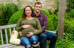 Beautiful pregnant couple Stock Photo