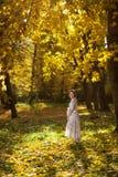 Beautiful Pregnant female in autumn Stock Image
