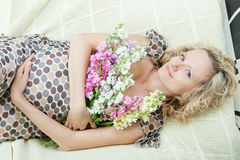 Beautiful pregnant female Stock Photography