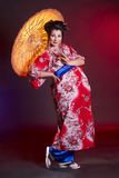 Beautiful pregnant geisha Stock Photos
