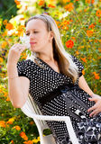 Beautiful pregnant girl Royalty Free Stock Photos
