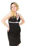 Beautiful pregnant girl in a dress Stock Photos