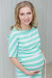 Beautiful pregnant girl Stock Images