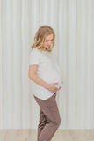 Beautiful pregnant girl waiting for the baby Stock Photos