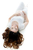 Beautiful pregnant lady Stock Photo