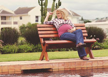 Beautiful pregnant lady Stock Image