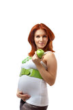 Beautiful pregnant redhead woman Stock Photography