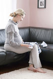 Beautiful pregnant woman. Stock Photography
