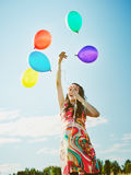 Beautiful pregnant woman and balloons Stock Photo