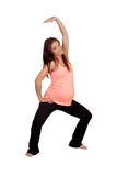 Beautiful pregnant woman doing stretching Stock Photography